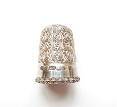 Charles Horner Sterling Silver Thimble Dorcas by estatechicago, $195.00