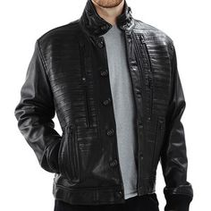 Empress Button Bomber Black now featured on Fab.