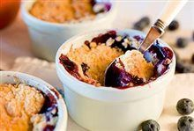 Crumble Appel-Blauwbes