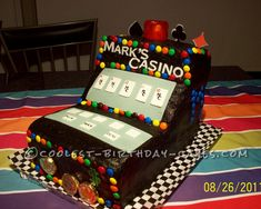 Coolest Casino Video Poker Cake... This website is the Pinterest of birthday cake ideas
