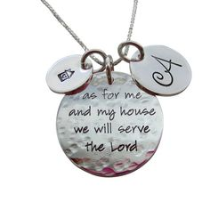 Hand-stamped Jewelry.  LOVE this one!!!