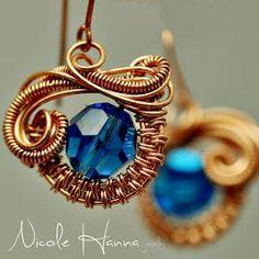 Nicole Hanna: Cupcake Earrings, Wire Jewelry Tutorial