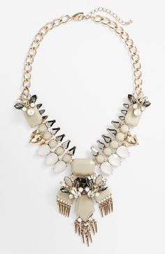Free shipping and returns on Natasha Couture Stone Statement Necklace at Nordstrom.com. Shimmering crystals add eye-catching vintage charm to a striking chain collar necklace.