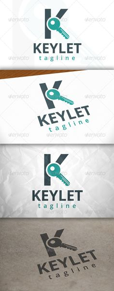 Buy Key Letter K Logo by BossTwinsArt on GraphicRiver. Package Three color version: Color, greyscale and single color. The logo is resizable. You can change text and c. Letter K, Letter Logo, Logo Design Template, Logo Templates, K Logos, Hotel Logo, Portfolio Logo, Education Logo, Travel Logo