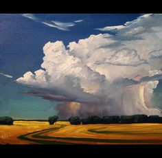 cloud paintings with low horizon line - Google Search