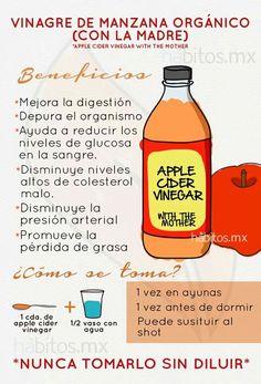 Beneficios de tomar Vinagre de Manzana ... de hábitos.mx