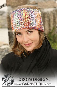 "Crochet DROPS head band in 4 threads ""Muskat Soft"" ~ DROPS Design"