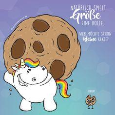 Von wegen es kommt nicht auf die Größe an! #pummeleinhorn #pummellove #love #einhorn #happy #kekse #essen #regenbogen #rainbow #hair #unicorn #chubby