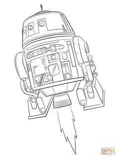 Star Wars Rebels Chopper coloring page | SuperColoring.com
