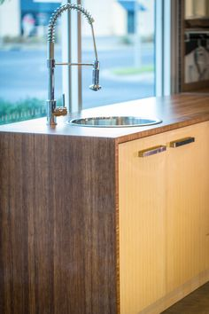Bamboo is versatile in the kitchen. Easy to maintain with a unique look. LETO bamboo from Cabinetmakers Choice is sustainable.
