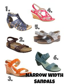 6 Comfortable Narrow Width Sandals with Style