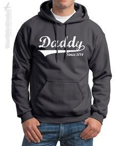 DADDY Since (ANY YEAR) vintage - crewneck or hoodie sweatshirt - custom gift idea for new dad Father's day baby shower personalized family on Etsy, $24.95