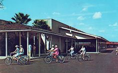 Riding past the Safeway in the Sun City, Arizona Sun City, Past, 1970s, Arizona, Past Tense
