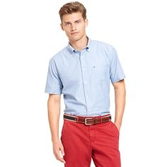 CLASSIC FIT OXFORD SHORT SLEEVE SHIRT | Tommy Hilfiger USA