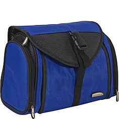 Travelon Ballistic Nylon Hanging Toiletry Kit - Blue - via eBags.com!