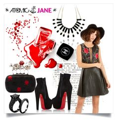 """""""ATOMIC JANE"""" by atomic-jane ❤ liked on Polyvore featuring Chanel, Alexander McQueen and Christian Louboutin"""
