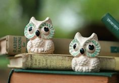 Vintage Whimsical Owls - Salt and Pepper Shakers
