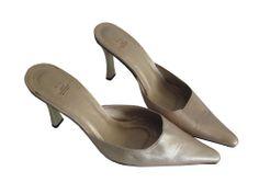 gold pointy heel