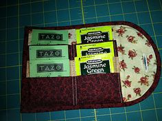 Tea wallet to sew for the discriminating tea drinker on one's gift list