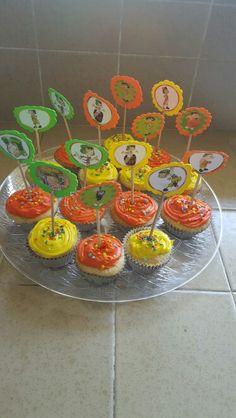 Cupcakes toppers. Made by Alexandra De Vega.  San jose CA.