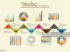 Vector Art : Creative timeline infographic template layout.