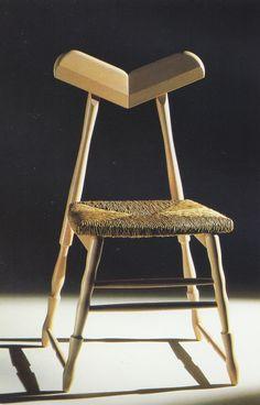 aqqindex:  Oscar Tusquets Blanca, Potro Stacking Chair, Circa 1990