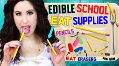DIY Edible Pencils, Erasers & School Supplies | EAT Pencils | How To Make Back To School EATABLE! - YouTube