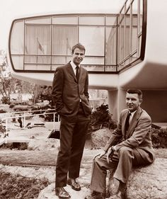 Monsanto House of the Future's designers, Marvin Goody and Richard Hamilton.