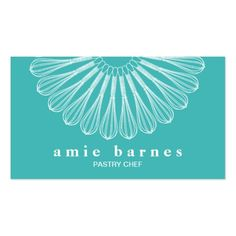 Pastry Chef Whisk Logo Catering  Bakery Business Card #Catering #Business #Card
