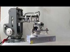 DiyCnc scara robot arm 4dof - YouTube