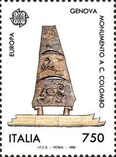 1992 - Europa Unita - monumento a Cristoforo Colombo realizzato a Genova dallo scultore G. Giannetti