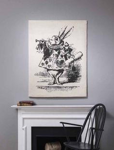 White Rabbit Rug from Rug Maker