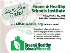 Looking forward to seeing you at our Green & Healthy Schools Institute on October 30 at Lake Mills Elementary, a Sugar Maple school and U.S. Dept. of Education Green Ribbon School! Register now!!