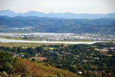 A view of Knysna and the lagoon, South Africa, taken from Sparrebosch.