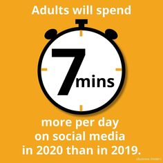 A little Wednesday Wisdom…Did you know? A recent study* showed that adults are spending an average of 7 minutes more per day on social media📱in 2020, mainly due to the pandemic. 2021 could see those numbers decrease. Is your business seeing increased social media engagement? *Business Insider . . . . . . #marketing #graphicdesign #pointatobee #myphx #smallmarketingagency #smallbusiness #womeninbusiness #marketingagency #illustrations #illustratorsoninstagram #smallbusinessmarketing… Social Media Engagement, 7 Minutes, Wednesday Wisdom, Illustrators On Instagram, Competitor Analysis, Small Business Marketing, Did You Know, Numbers, Advertising