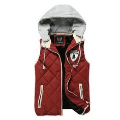 Men's Sports Vest, Cotton Padded Jackets Plus Size