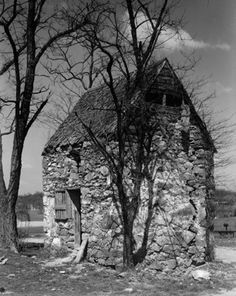 """The Old Quarters,"""" a slave quarters on Wisconsin Avenue in Bethesda (Historic American Buildings Survey, Library of Congress, 1939)"""