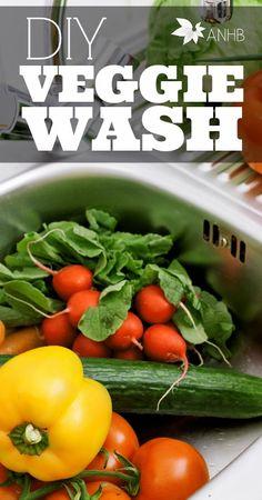 DIY Fruit & Veggie Wash: I'm so glad I found this!