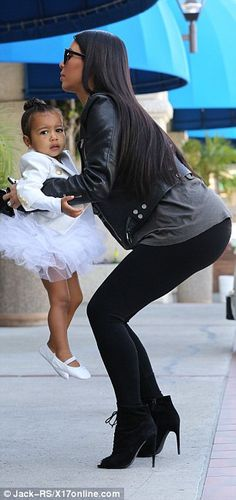 North and Penelope wear tutus at dance class with Kim Kardashian #dailymail
