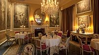 The Van Der Hagen is a more intimate dining room, the walls hung with early 18th century paintings by Van Der Hagen.