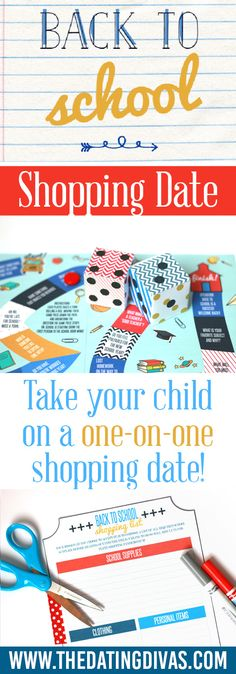My kids would love a Back to School Shopping Date!! . Printables designed by www.etsy.com/shop/ollieandlulu www.TheDatingDivas.com