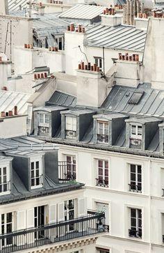 Paris Photography, Large Wall Art Print, Paris Rooftops, Paris Decor…
