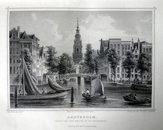 Amsterdam-Amstel en Zuiderkerk | Herkomst : J.L. Terwen - Het Koningrijk der Nederlanden, afm. 14 x 20 cm Staalgravure 1860