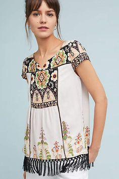 Vanessa Virginia Augustina Fringed Tunic