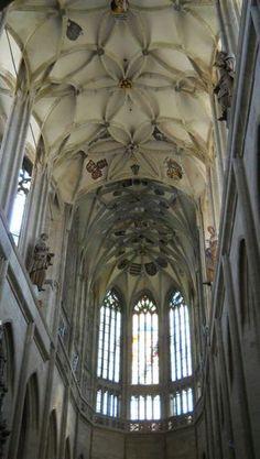 Interior of St.Barbara church in Kutná Hora, Czechia #visitczechia #church #czechia #unesco