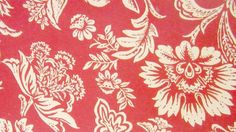 french+floral+wallpaper | Vintage Wallpaper Hand Painted French Floral design on Red Border ...