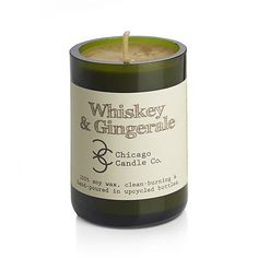 This is a thing??? Whiskey & Ginger Ale Scented Candle | Crate and Barrel