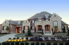 Plan 67115GL: French Country Estate Home Plan