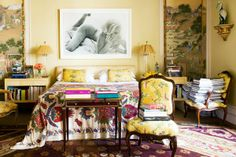 Shop The Room: Indochine MomentArchitect Jorge Elias and his wife Lucila blend French and Asian elements to applause-worthy effect in their Sao Paulo bedroom. Exotic Bedrooms, Beautiful Bedrooms, Beautiful Interiors, Architectural Digest, Modern Interior Design, Home Design, Design Ideas, Asian Interior, Design Room