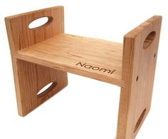 kids step stool in cherry